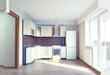 modern kitchen interior. 3d concept