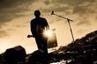Leinwanddruck Bild - musique artiste concert scène
