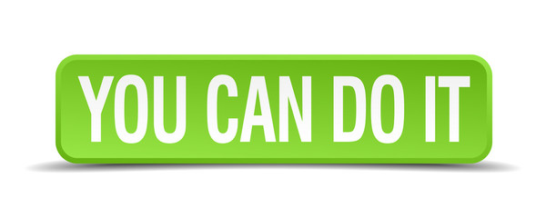 You can do it green 3d realistic square isolated button