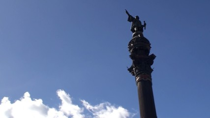 Types of Barcelona. Columbus Monument.