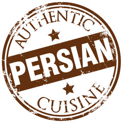 persian cuisine stamp