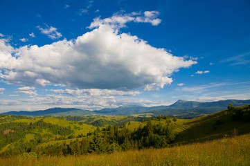 Mountain landscape, Carpathian