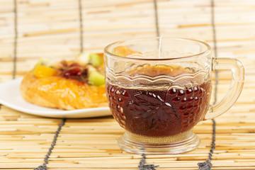 Fruit danish bread with Hot Tea