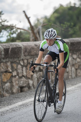 race road cycling downhill