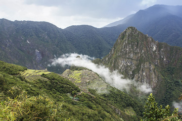 Panoramic of the archeological site Machu Picchu, Cuzco, Peru, s