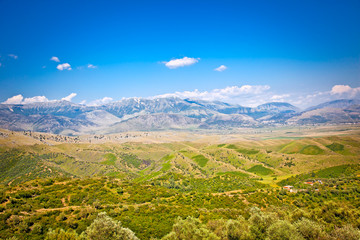 View of beautiful nature in Gjirokaster region, Albania.