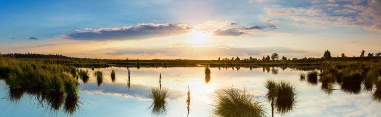 Sonnenuntergang im Nationalpark Hohes Venn