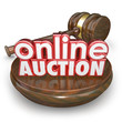 Постер, плакат: Online Auction Gavel Internet Bidding Web Site Win Buy Item