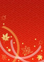朱赤金銀水引紅葉