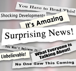 Surprising News Shocking Unbelievable Headlines Ripped Torn News