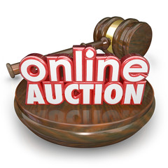 Online Auction Gavel Internet Bidding Web Site Win Buy Item