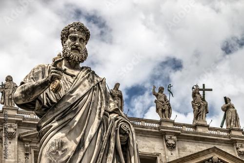 Fotobehang Rome Statue of St. Peter