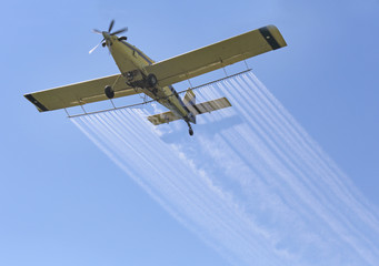 Airplane Spraying Chemicals