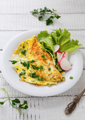 scrambled eggs with radishes