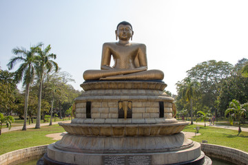 Statue of Lord Buddha in Colombo, Sri Lanka