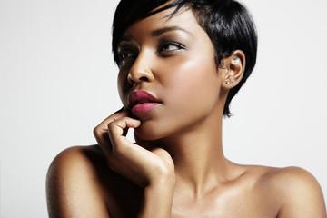 portrait of gorgeous black woman