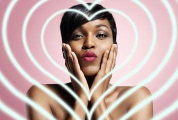 black woman in love