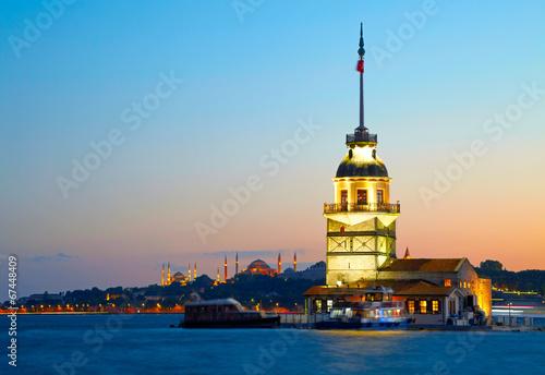 Maiden's Tower (Kiz Kulesi). Istanbul, Turkey - 67448409