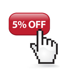 Five Percent Off Button