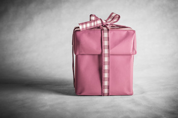 Pink Gift Box Tied with Bow