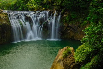 shifen waterfall in pingxi, Taipei, Taiwan