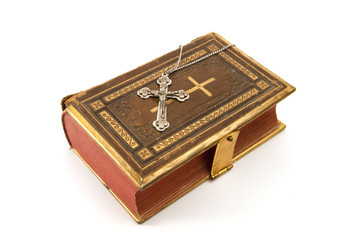 Cross on the Bible