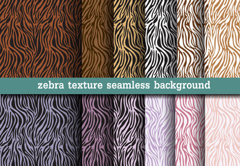 Animal print, zebra texture seamless background
