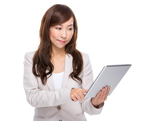 Business woman use digital tablet