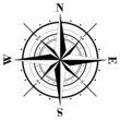 Leinwandbild Motiv Compass Rose