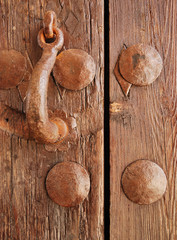 Knocker wooden door