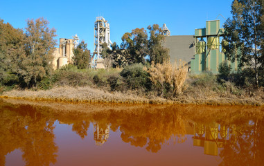 Cement factory in Niebla, Spain