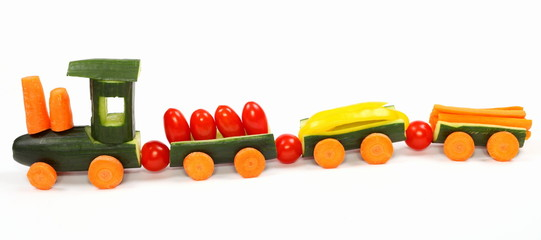 vegetable train