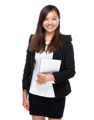 Asian business woman with digital tablet