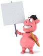 canvas print picture - Pig