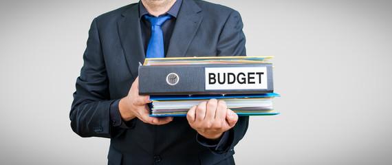 Geschäftsmann Dokument Budget