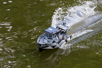 RC military speedboat
