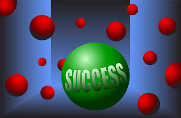 success ball motivation stand out from the crowd vector