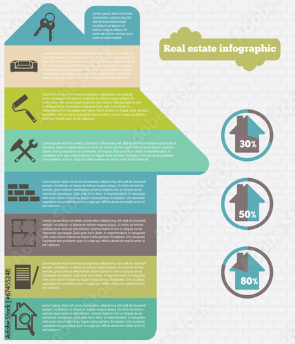 Real estate infographic set vector illustration - 67455248