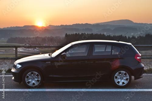 BMW Sonnenuntergang Sunset Poster