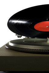 Vinyl Record Over Record Player