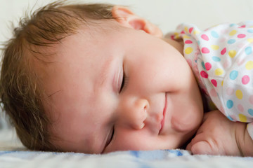 Cute sleeping newborn