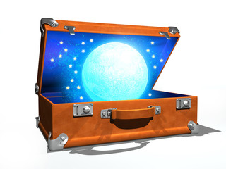 moon in the suitcase