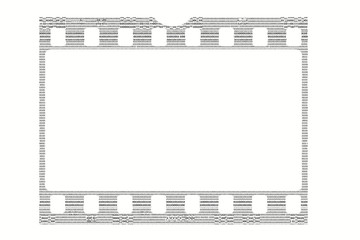 film strip made by binary code, concept photo in digital world,