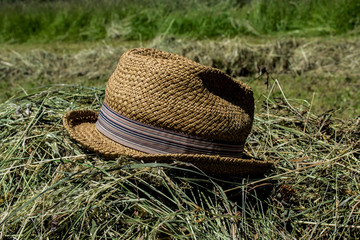 work hat, grilling, mowing grass, straw hat