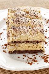 Italian cuisine: tiramisu cake