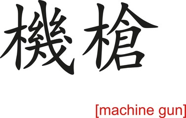 Chinese Sign for machine gun