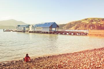New Zealand Akaroa pier