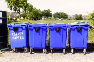Recycling bins for paper and cardboard