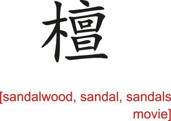 Chinese Sign for sandalwood, sandal, sandals movie