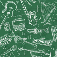 Musician Chalk Background